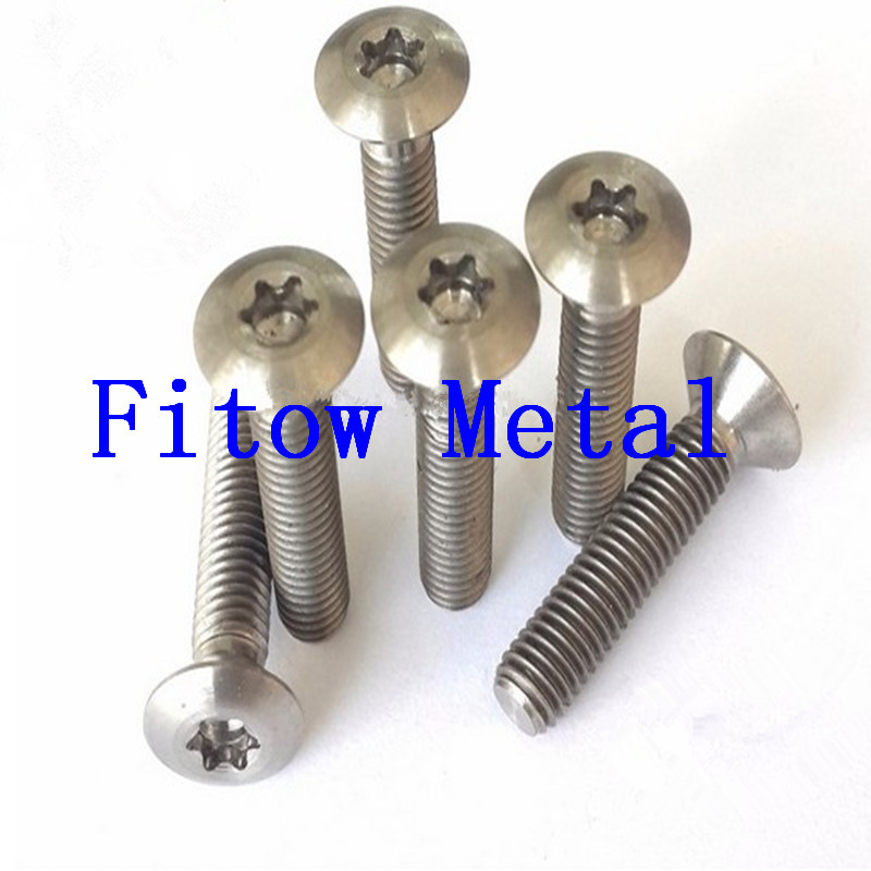 ISO 14584 titanium hexalobular socket raised countersunkhead screws