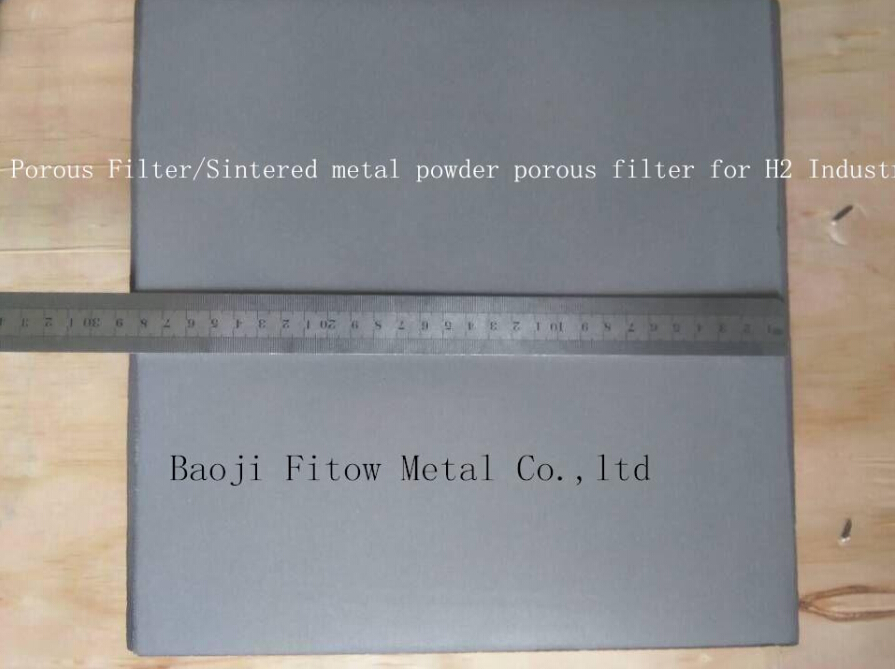 titanium Porous Filter plate for hydrogen H2