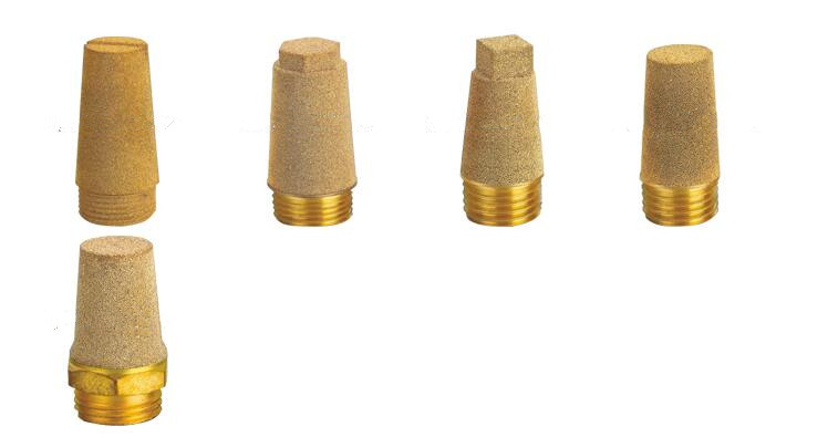 Sintered copper mufflers filters silencer