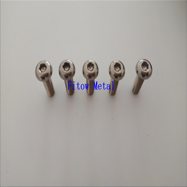 ISO 7380 hex socket low cap Titanium Bolt for MTB