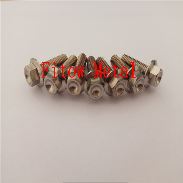 Titanium race  flange bolt M6x20, motorcycle, racing, lockwire, motorbike