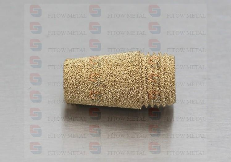 D type Sintered Brass Bronze Pneumatic Exhaust Muffler
